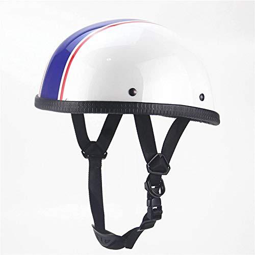XLYYHZ Motorcycle Half Helmet Beanie Semi-Motorcycle Helmet Men and Women Skull Cap DOT/ECE Safety Standard Bicycle Scooter ATV UTV Skateboard Helmet,XXL