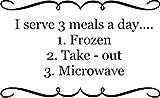stickers muraux pour chambre bebe fille Je sers 3 repas par jour congelé micro-ondes...