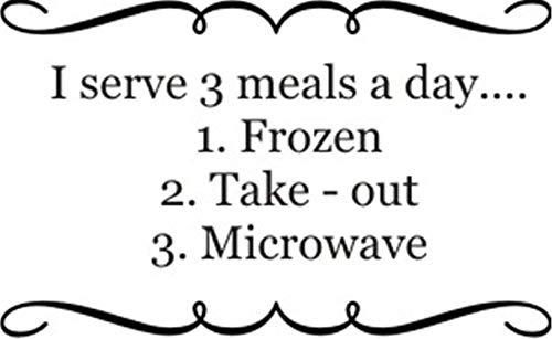 wandaufkleber blumen Ich serviere 3 Mahlzeiten einen Tag tiefgefrorene Mikrowelle zum Mitnehmen für die Restaurantküche