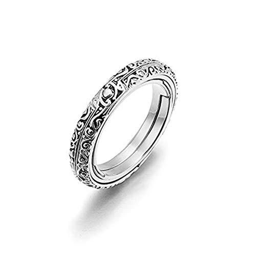 Faltring New Astronomical Ball Ring Cosmic Ring Paar Liebhaber Schmuck Geschenke Cosmic Creative Student Fingers Day Geschenk (Silber)