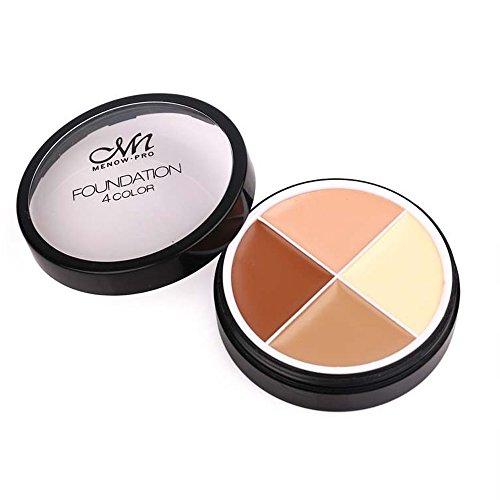 Lebeaut Menow 4 Couleurs Marque Maquillage Visage Concealer Crème Longue Durée Étanche Camouflage Concealer Palette Cosmétiques C14002