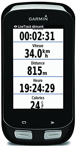 """Garmin Edge 1000 pack - GPS para ciclismo de 3"""" (inalámbrico, microSD, USB) con sensor de velocidad y cadencia y banda de frecuencia cardiaca premium"""