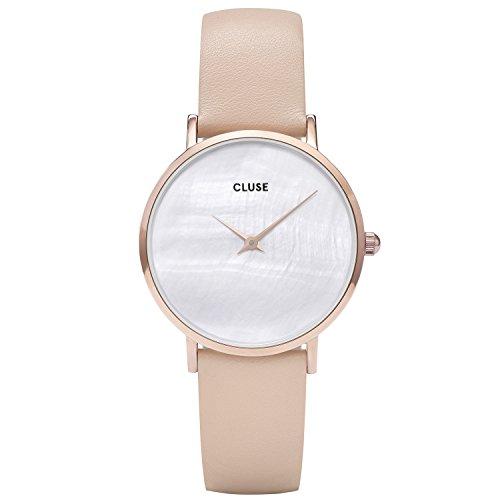 Cluse Damen Analog Quarz Uhr mit Leder Armband CL30059