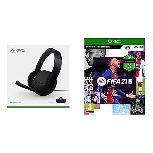 Microsoft Xbox One -  Auriculares Estéreo con Cable,  Reedición + FIFA 21 Edición Estándar