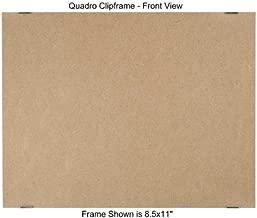 Quadro Clip Frame 8.5x11 inch Borderless Frame, Box of 12