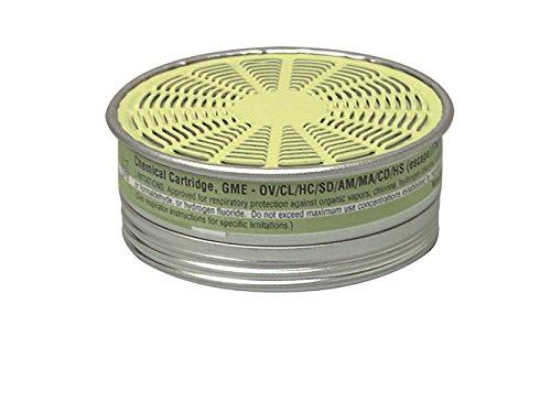 MSA Multi Gas Respirator Cartridge, Green, Small (492790)