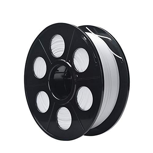 QDTD PLA Filament Feder QualitäTs 3D Filament Refills 1,75 mm Genauigkeit ± 0,02 100% Nein Blase 1 kg 2.2lb Kein Geruch Und Leicht Zu SchäLen Filament for Die Meisten 3D-Drucker(Color:Weiß)