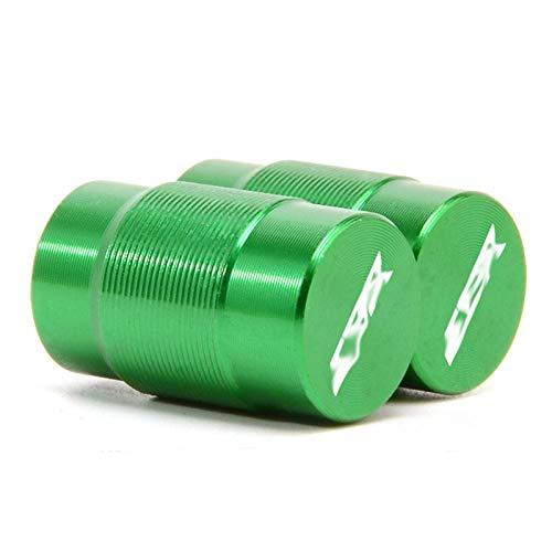 JINBINB Motocicleta vehículo Rueda válvula de neumático Tapa Tapa Cubiertas/Ajuste para HON.DA CBR 125R 600 F4I 650F 650R 1100xx 1000F CBR 600 954 1000 RR (Color : Green)