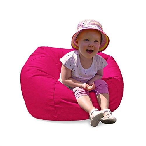 RUComfy Small Kids Bean Bag Cerise Pink, Fabric