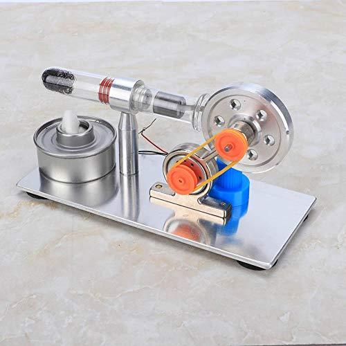 Ichiias Modello sperimentale Potenza a Vapore Giocattolo educativo Monocilindrico Fisica Scienza Modello di Motore Stirling Durevole per Regali per Bambini