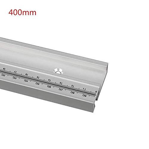 belupai 400mm Aluminiumlegierung T-Schiene Holzbearbeitung T-Nut Gehrungsschiene mit Skala