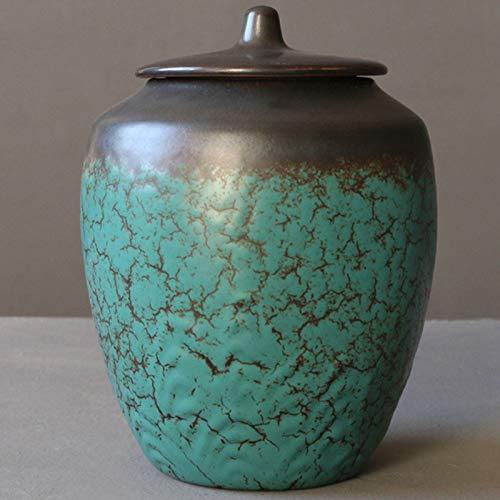 ZXXYTA Teewannen aus Steinzeug, luftdichte Keramikdosen, große tragbare Reiseteekannen, Teeverpackungsgläser, Teelagerung