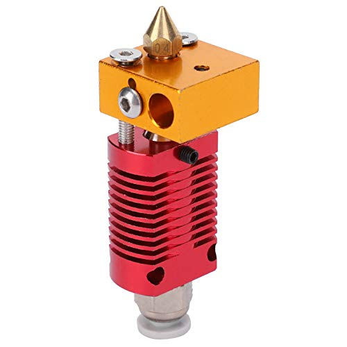 Hot End Extrusion Head, All Metal 3D Printer Accessories, Strong and Durable, with Full Straight Throat, Not Easy to Block, Replacement for Ender3/3S/V2