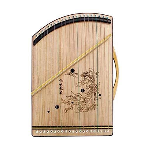 SXQ Chinese Gu Zheng, Guzheng Finger Trainer, bewegliches Guzheng Instrument mit Voll Zubehör/Rucksack geeignet for Anfänger/Professional/Kinder, 21 Streicher (Color : A)