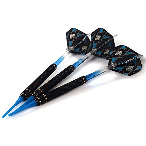 CUESOUL 16 Gramm Soft Tip Darts – blau/schwarz - 3