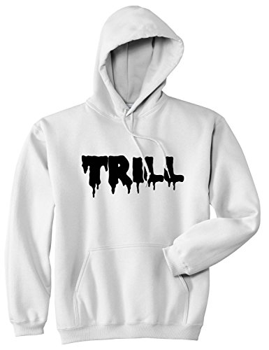 Kings Of NY Trill Blood New York Bx Style Fashion Pullover Hoody Sweatshirt XX-Large White