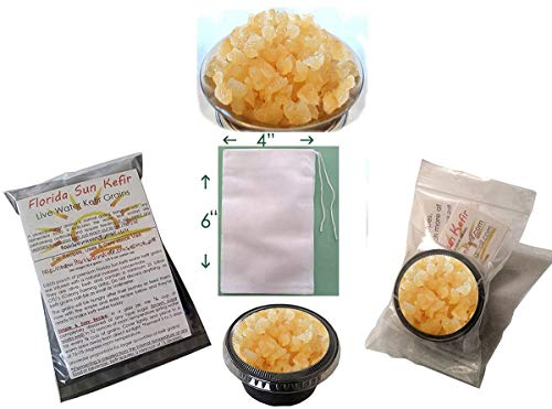 Price comparison product image Live,  Organic Water Kefir Grains and Detailed Instruction Manual (.pdf)