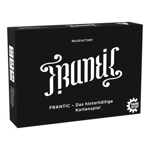 Game Factory 646224 Frantic-Das hinterhältige Kartenspiel, Schwarz, Weiß