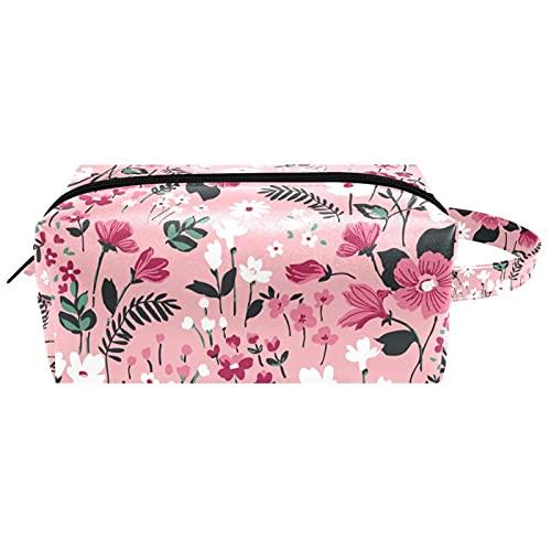 Bolsa de cosméticos para colgar, diseño tradicional de estilo folclórico resistente al agua, bolsa de viaje para mujeres, hombres, niñas, niños, maquillaje de cuero portátil, bolsa pequeña