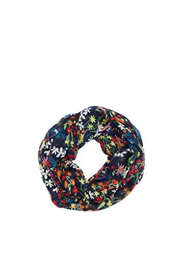 s.Oliver Damen 38.899.91.7688 Snood Schal, Dark Blue AOP, One Size (Herstellergröße:1)
