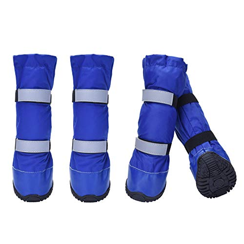 HiPaw Winter Water Resistant Dog Boots Nonslip Rubber Sole for Snow Rain