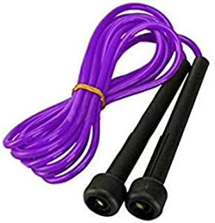 Purple Exercise Plastic Skipping Jump Rope Boxing Speed Cardio Gym