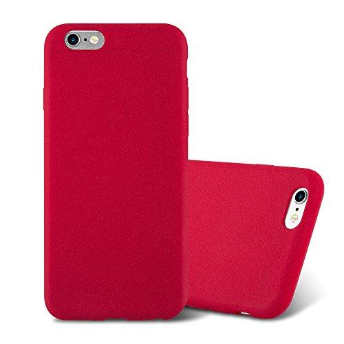 Cadorabo Custodia per Apple iPhone 6 / iPhone 6S in Frost Rosso - Morbida Cover Protettiva Sottile di Silicone TPU con Bordo Protezione - Ultra Slim Case Antiurto Gel Back Bumper Guscio