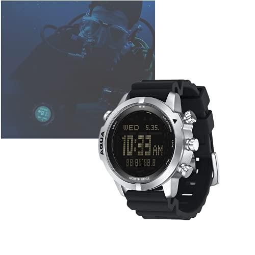 Reloj para computadora de Buceo para Hombres , DYBITTS Resistente al Agua 100M Relojes Digitales Inteligentes para Buceo Libre/Submarinismo Altímetro Barómetro Brújula Reloj de Temperatura