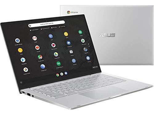 "ASUS Chromebook C425 14"" FHD NanoEdge Clamshell Laptop, Intel Core M3-8100Y Processor, 4GB RAM, 128GB eMMC Storage, Backlit Keyboard, USB Type-C, Chrome OS, Silver"