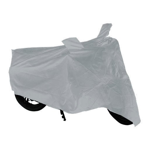 Autofurnish AF652 Universal Motorcycle Silver Cover With Mirror Pockets