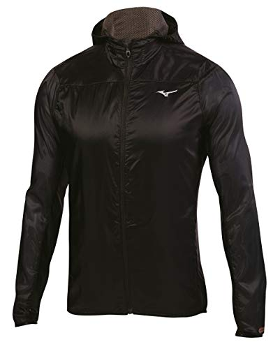 Mizuno Running Uomo Breath Thermo Hoody Jacket, Uomo, 421490, Nero , M