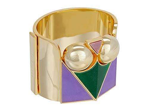 Kate Spade New York Modern Icon Faceted Spade Bangle Purple Multi One Size