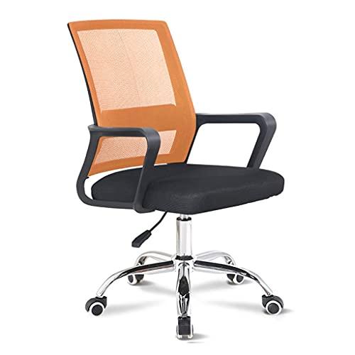 ZRJ - Sedia da scrivania ergonomica per computer, sedia da ufficio, sedia moderna girevole, per sala conferenze, casa, ufficio (colore: arancione)