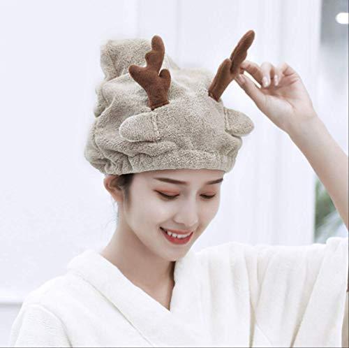 Adulte Bébé Douche Cap Cheveux Dry Hat Fille Serviettes Strong Absorbing Drying Towel Dry Hair Towels Christmas Small Elk Hat
