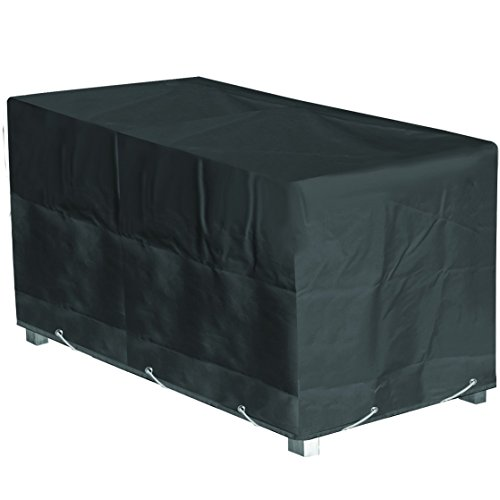 GREEN CLUB Housse de Protection Table de Jardin Rectangulaire Haute qualité Polyester L 180 x l 110 x h 70 cm Couleur Anthracite