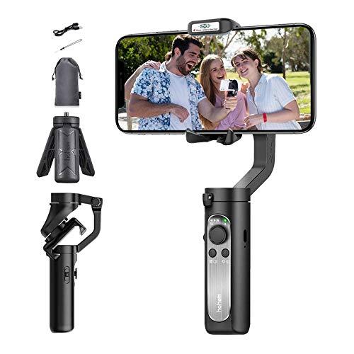 Gimbal Smartphone, Hohem iSteady X 3-Achsen Handheld Handy Gimbal Stabilisator mit Sportmodus,Zeitraffer,Live Videoaufnahme Vlog für iPhone 11/XS/XR, Huawei, Samsung S10 9 8 7 Plus usw.