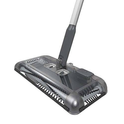 Black+Decker PSA215B-QW 7.2V, 1.5Ah Lithium Akku-Kehrbesen, Laufzeit 60 min, für kurzflorigen Teppiche und Hartböden, kabellos, beutelos, aufladbar, schwarz, PSA215B, Acrylic, 300 milliliters, Grau - 3