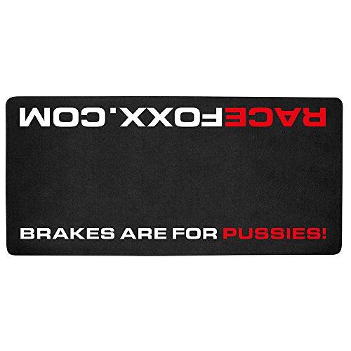 RACEFOXX Motorrad Teppich, Brakes Are for Pussies, Läufer, Werkstattteppich, Werkstatt, Boxenteppich