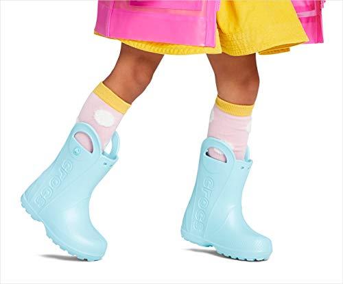 Crocs Kids' Handle It Rain Boots , Cerulean Blue, 9 Toddler
