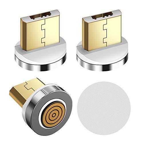 LAMA Conectores magnéticos, [3Pack / Round 7Pin] Adaptadores magnéticos Micro USB con Soporte de Cable magnético Round 7Pin Cable magnético, sin Cables magnéticos