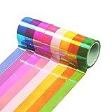 WT-DDJJK Traje de Baile, 8pcs / Set Decoración de Gimnasia rítmica Cinta de Brillo holográfico Accesorio de Palo 15mm * 5m Papelería Decorativa Cinta Adhesiva DIY