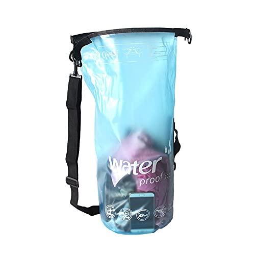 Estrella-L Bolsas secas, Flotante Impermeable Bolsa Seca 10-20L, Bolsa Impermeable de Rafting con un solo hombro, Bolsa de PVC esmerilado impermeable, para kayak, rafting, barco, natación