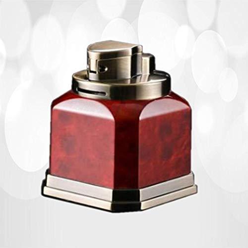 8コーナー 松明 ライター 卓上詰め替え式ブタン防風ガス赤炎葉巻たばこライターたばこキャンドル装飾コレクション(ブタンを含まない)