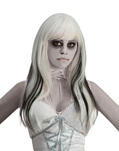 Forum Novelties womens Black Streaked Phantom Costume Wig, White, One Size US