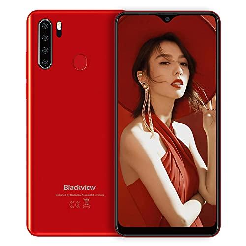 Blackview A80Pro スマートフォン SIMフリー スマホ 本体 RAM4GB + ROM64GB 大画面6.49インチ 1300万画素 Android 10 格安 携帯電話 レッド