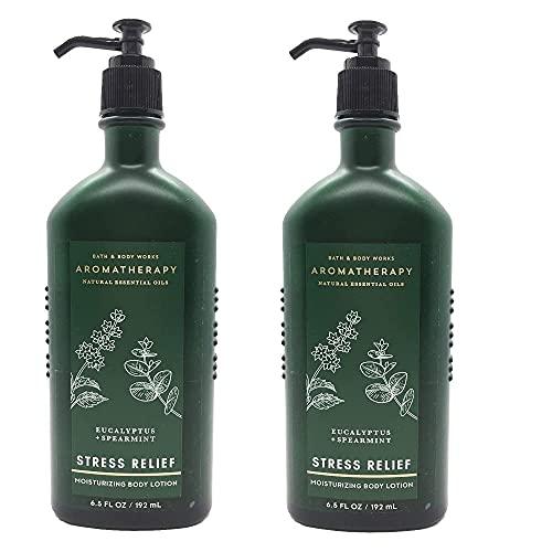 Bath & Body Works Aromatherapy Stress Relief - Eucalyptus + Spearmint Body Lotion, 6.5 Fl Oz, 2-Pack