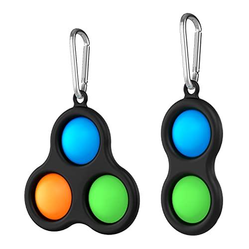 RIOROO Sensorial Fidget Juguete, Pop Burbuja Sensorial Fidget Autismo Necesidades Especiales Aliviador estrés Juguetes Educativos para Niños Adultos