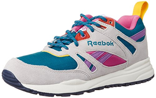 Reebok Damen Ventilator So Sneakers, Weiß (Englsh Emerald/Steel/Pink/Amber/Navy/Chalk/Purple), 37.5