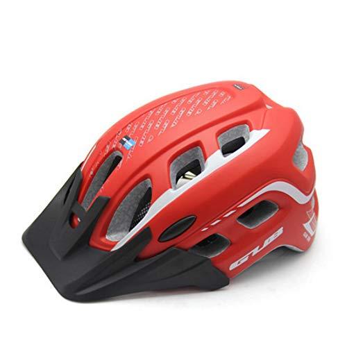 KERVINFENDRIYUN YY4 Mountainbike-Reithelm-Rand Abnehmbare, tragbare Schutzhelm, Anwendungsbereich: Erwachsener für Outdoor-Enthusiasten (Farbe : Red)