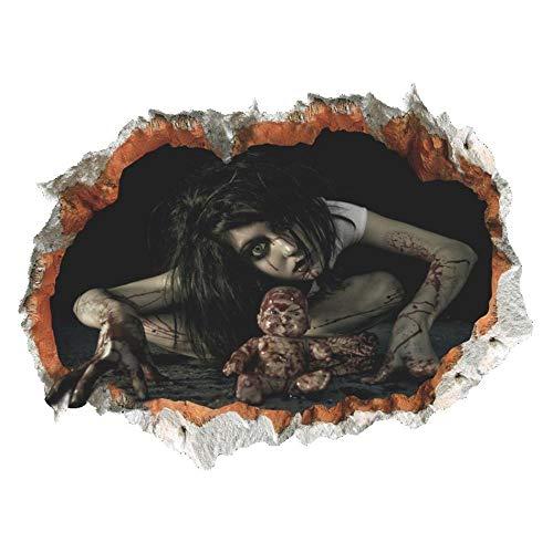 Pegatinas De Pared Bedom wallpaper Las Pegatinas De Pared De Fantasmas Femeninas De La Pared Rota De La Decoración De Halloween Tienen Cuatro Tipos Para Que Elijas @ 型 1_